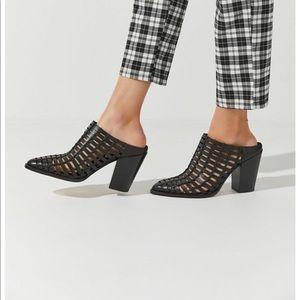 NEW Dolce Vita Kacie Mule Heels Booties Black 9.5